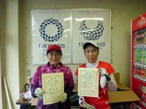 第63回オノヤ杯福島県春季ダブルステニス選手家大会60歳以上女子ダブルス優勝