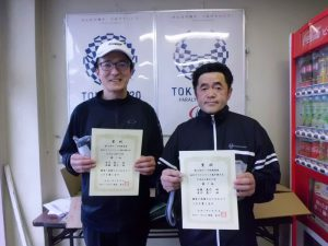 第63回オノヤ杯福島県春季ダブルステニス選手家大会55歳以上男子ダブルス優勝