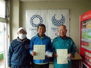 第63回オノヤ杯福島県春季ダブルステニス選手家大会60歳以上男子ダブルス優勝