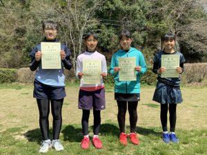 第35回福島県春季小学生テニス選手権大会女子シングルス入賞者