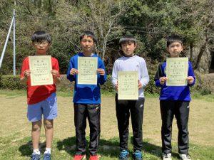 第35回福島県春季小学生テニス選手権大会男子シングルス入賞者