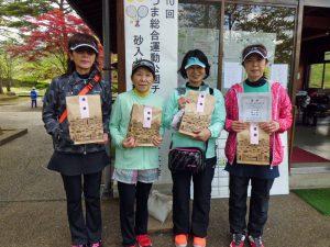第10回あづま総合運動公園チーム対抗テニス大会女子の部優勝