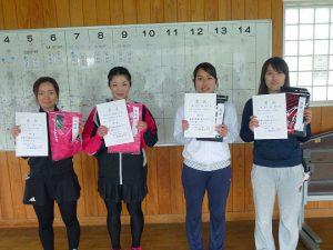 第48回福島県テニス選手権大会一般女子ダブルス入賞者