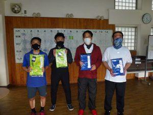 第48回福島県テニス選手権大会45歳以上男子ダブルス入賞者