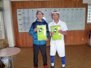 第48回福島県テニス選手権大会55歳以上男子ダブルス入賞者