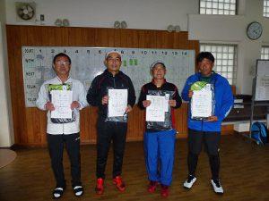 第48回福島県テニス選手権大会55歳以上男子シングルス入賞者