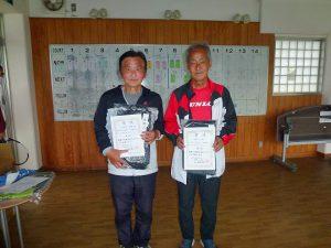 第48回福島県テニス選手権大会65歳以上男子シングルス入賞者