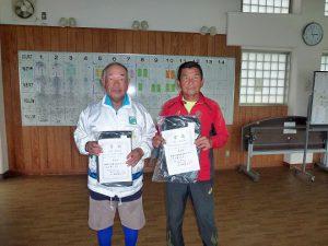 第48回福島県テニス選手権大会70歳以上男子シングルス入賞者