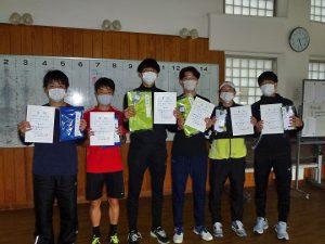 第48回福島県テニス選手権大会一般男子ダブルス入賞者