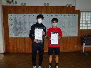 第48回福島県テニス選手権大会一般男子シングルス入賞者