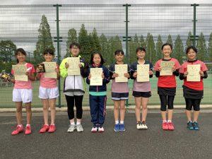 第38回福島県春季ジュニアテニス選手権大会U12女子ダブルス入賞者