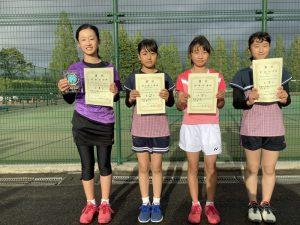 第38回福島県春季ジュニアダブルステニス選手権大会U12女子シングルス入賞者