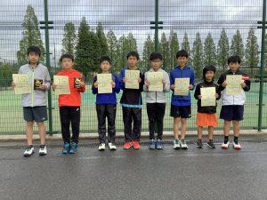 第38回福島県春季ジュニアテニス選手権大会U12男子ダブルス入賞者