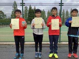第38回福島県春季ジュニアダブルステニス選手権大会U12男子シングルス入賞者