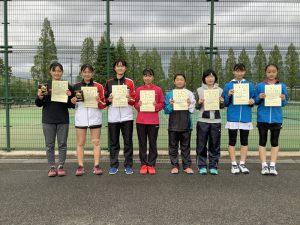 第38回福島県春季ジュニアテニス選手権大会U14女子ダブルス入賞者