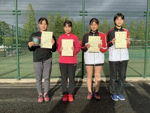 第38回福島県春季ジュニアテニス選手権大会U14女子シングルス入賞者
