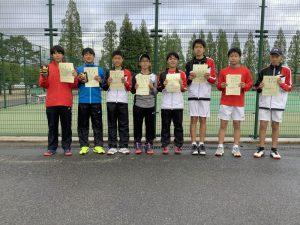 第38回福島県春季ジュニアテニス選手権大会U14男子ダブルス入賞者
