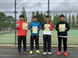 第38回福島県春季ジュニアテニス選手権大会U14男子シングルス入賞者