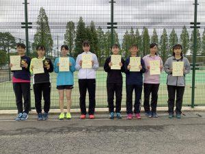 第38回福島県春季ジュニアテニス選手権大会U16女子ダブルス入賞者