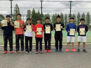 第38回福島県春季ジュニアテニス選手権大会U16男子ダブルス入賞者
