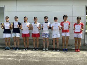 2021中牟田杯全国選抜ジュニアテニス選手権福島県予選女子ダブルス入賞者