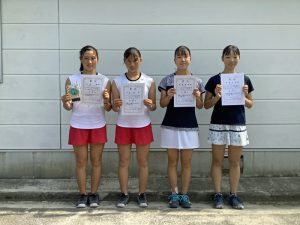 2021中牟田杯全国選抜ジュニアテニス選手権福島県予選女子シングルス入賞者