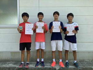 2021中牟田杯全国選抜ジュニアテニス選手権福島県予選男子シングルス入賞者