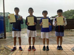 2021日植杯RSK全国選抜ジュニアテニス選手権福島県予選男子シングルス入賞者