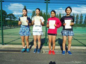 第35回福島県中学生テニス選手権大会シングルスの部女子入賞者