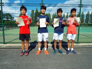 第35回福島県中学生テニス選手権大会シングルスの部男子入賞者