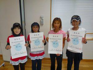 第74回福島県総合体育大会テニス競技40歳以上女子ダブルス入賞者