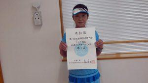 第74回福島県総合体育大会テニス競技40歳以上女子シングルス入賞者