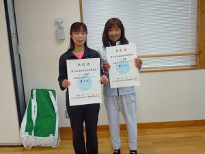 第74回福島県総合体育大会テニス競技55歳以上女子ダブルス入賞者