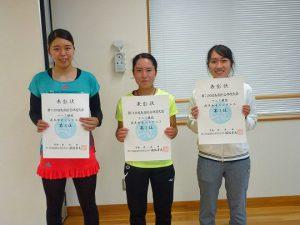 第74回福島県総合体育大会テニス競技成年女子入賞者