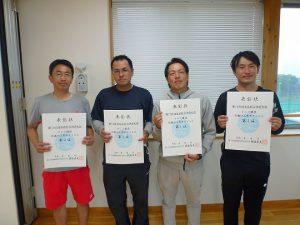 第74回福島県総合体育大会テニス競技35歳以上男子ダブルス入賞者