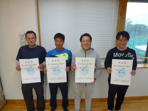 第74回福島県総合体育大会テニス競技35歳以上男子シングルス入賞者