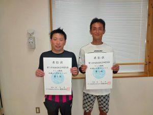 第74回福島県総合体育大会テニス競技40歳以上男子ダブルス入賞者