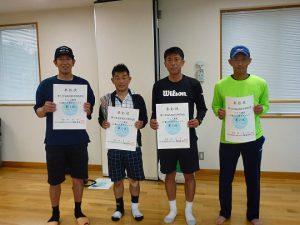 第74回福島県総合体育大会テニス競技45歳以上男子ダブルス入賞者