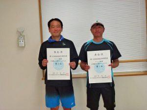 第74回福島県総合体育大会テニス競技45歳以上男子シングルス入賞者