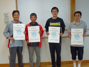第74回福島県総合体育大会テニス競技55歳以上男子ダブルス入賞者