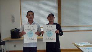 第74回福島県総合体育大会テニス競技55歳以上男子シングルス入賞者