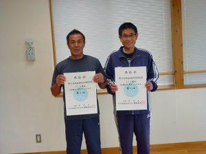 第74回福島県総合体育大会テニス競技60歳以上男子シングルス入賞者