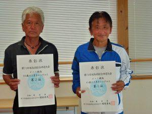 第74回福島県総合体育大会テニス競技65歳以上男子シングルス入賞者