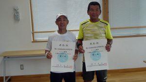 第74回福島県総合体育大会テニス競技70歳以上男子シングルス入賞者