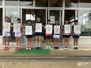 第74回福島県総合体育大会テニス競技スポーツ少年団の部小学生女子ダブルス入賞者