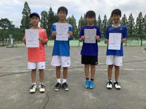 第74回福島県総合体育大会テニス競技スポーツ少年団の部小学生男子ダブルス入賞者