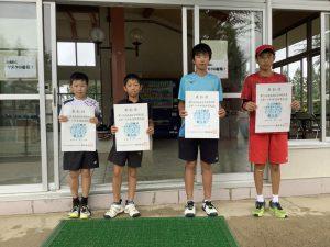 第74回福島県総合体育大会テニス競技スポーツ少年団の部小学生男子ダブルス入賞者3