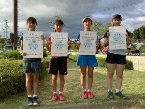 第74回福島県総合体育大会テニス競技スポーツ少年団の部小学生女子シングルス入賞者