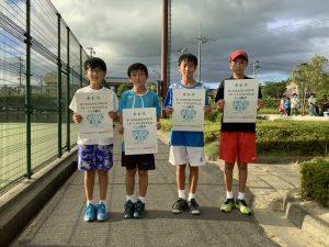 第74回福島県総合体育大会テニス競技スポーツ少年団の部小学生男子シングルス入賞者