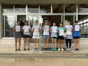 第74回福島県総合体育大会テニス競技スポーツ少年団の部中学生女子ダブルス入賞者